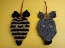 Knitting Pattern to make Greyhound Christmas Tree Decorations
