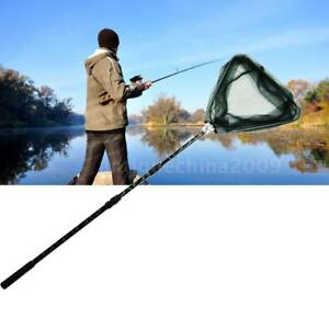 185cm Retractable Telescoping Pole Folding Fishing Brail Landing Net Tackle