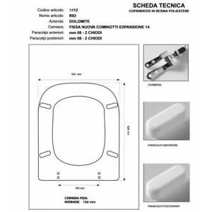 Sedile Wc Dolomite Rio.Toilet Seat Dolomite Rio White Hinge Slowed Soft Close Oro Sedile Asse Wc 7436053156198 Ebay