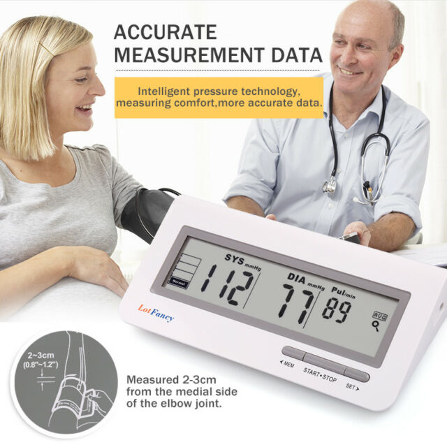 Digital Arm Blood Pressure Monitor BP Cuff Gauge Machine Heart Rate Pulse Meter