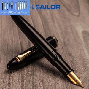 Sailor-Professor-11-9018-320-Black-body-Medium-Fine-Nib-FP-NEW-Free-ship
