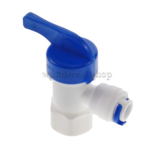 Plastik 1//4 /'/'od Rohr Kugelhahn Kugelventil Absperrventil Ventile Hahn