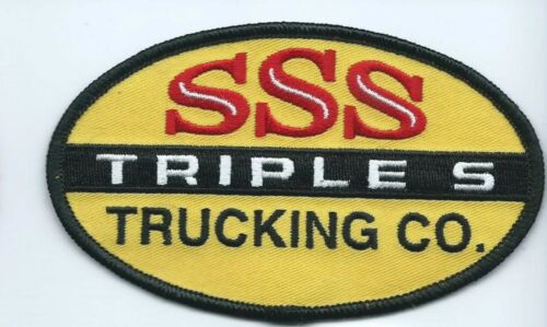 SSS Triple S trucking co patch Aztec NM heavy equip hauler 2-5//8X4-1//2 #951