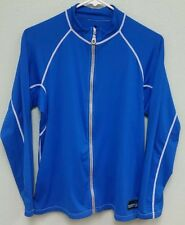 Duck Skins DuckSkins small blue full zip uv + h20 armor shirt mens small