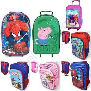 CHARACTER PATROL KIDS SPIDERMAN PAW WHEELED BACKPACKS BAGS TROLLEY rnxw7rTqA