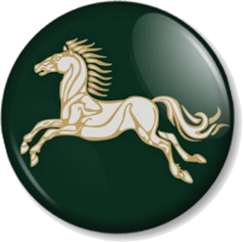 "Kingdom of Rohan Horse 1/"" Pin Button Badge Hobbit JRR Tolkien Lord Of The Rings"
