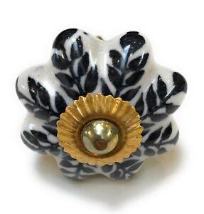 Ceramic Knob Handle 6 Pcs Art Kitchen Cabinet Drawer Knobs Handles ZENDA IMPORTS