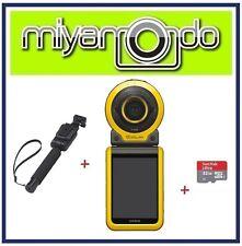 Casio Exilim FR100 + Sandisk Ultra microSD 32GB + EAM-4 Monopod (Yellow)