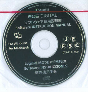 Canon-EOS-Digital-Software-Instruction-Manual-CD-ROM-Disc-CT1-7133-000