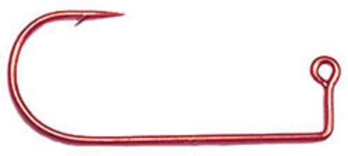 Pack de 100 #8 Eagle Claw 570R Jig Hooks-Rouge-DO-IT JIG moules et autres