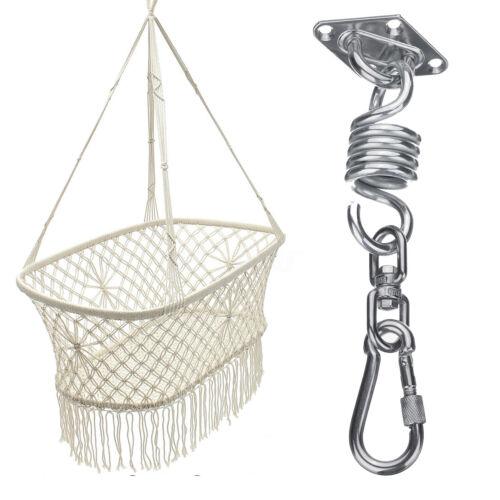 360° Hammock Chair Hanging Kit Ceiling Mount Spring Snap Swivel Hooks Hardware