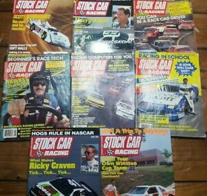 Stock-Car-Racing-Magazine-Vintage-1988-1995-Lot-Of-8-Hot-Rod-Fast-Automobile