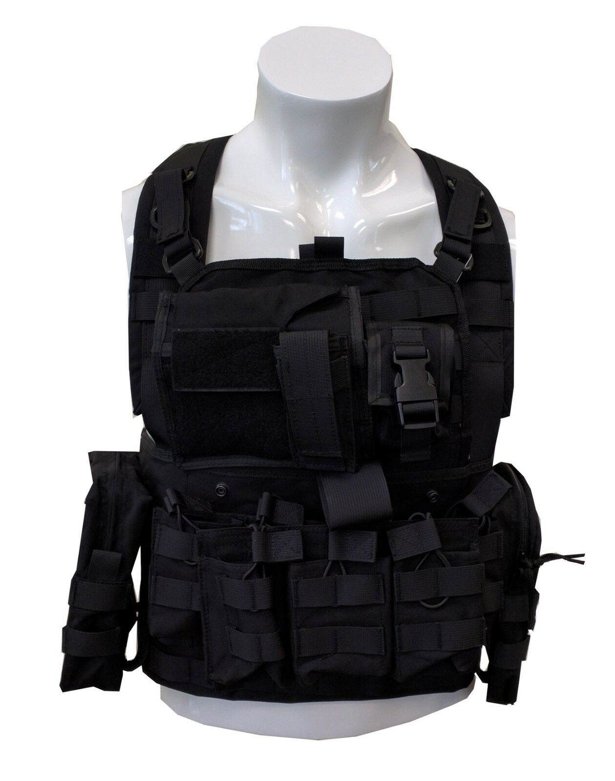 Military Army Fans Carrier Outdoor Tactical Sport MOLLE Gear Adjustable Vest 21