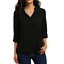 thumbnail 6 - Women's Summer Loose V Neck Chiffon Long Sleeve Blouse Casual Collar Shirt Tops