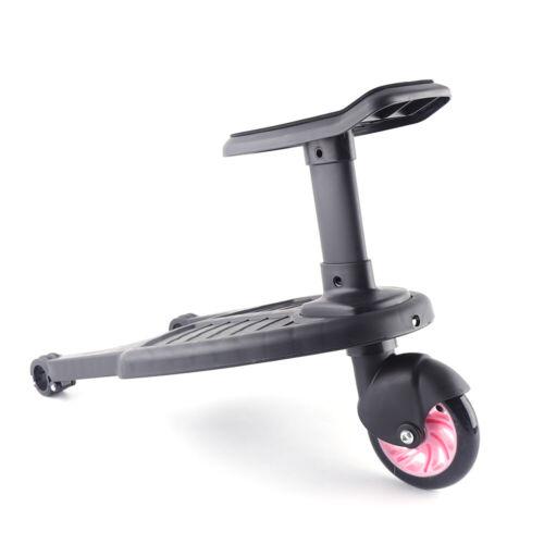 Buggy Board Kiddy Board Trittbrett mit Sitz für Kinderwagen Rollbrett Universal