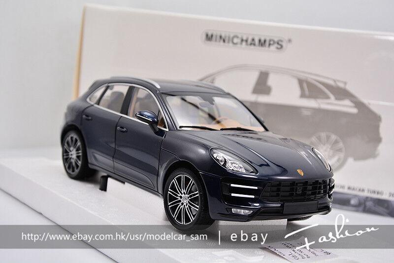 Minichamps 1 18 Porsche Cayenne Macan Turbo bleu