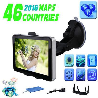 5 inch 8GB Car GPS Navigation Navigator SAT NAV SpeedCam MP4 FM Free Maps Update