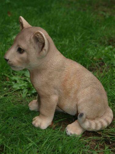 Löwe Dekofigur Baby naturgetreu Afrika Dekoration Gartendeko NEU HOTANT