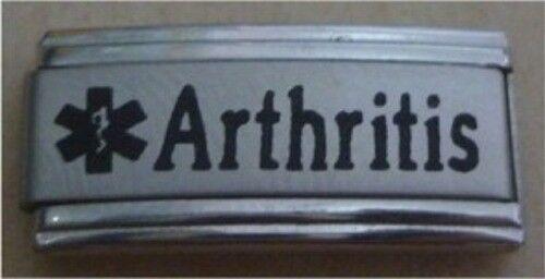 9mm Classic Size Italian Charm Superlink Medical Alert L77 Arthritis