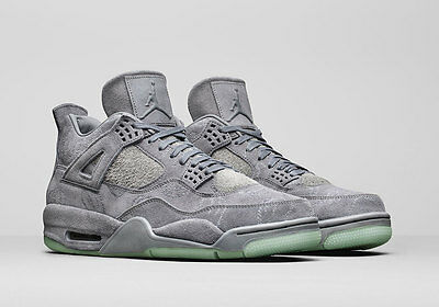 Nike Air Jordan 4 IV Retro KAWS SZ 11.5 Cool Grey Suede Glow In Dark 930155-003