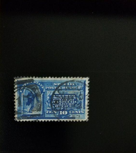 1885 10c U.S. Special Postal Delivery, Messenger, Blue