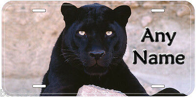 Black Leopard Aluminum Tag Any Name Personalized Novelty License Plate New