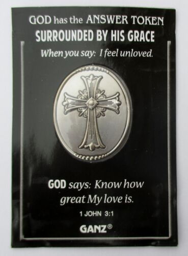 J SURROUNDED BY HIS GRACE unloved great love God Answer POCKET TOKEN COIN ganz