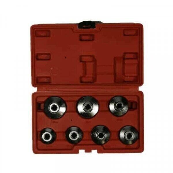 7pc Oil Filter Cup Remover Tool Kit