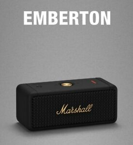 Marshall Emberton-Portable Wireless Bluetooth Lautsprecher-Farbe Schwarz und Messing