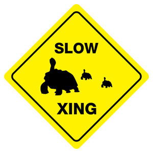 Slow Turtle Crossing >> Slow Turtle Crossing Animal Funny Novelty Xing Sign 49008566910 Ebay
