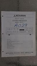 Mitsubishi da-r11 service manual original repair book stereo receiver tuner