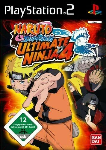 PS2 jeu - Ultimate Ninja 4: Naruto Shippuden dans l'emballage utilisé