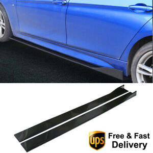 6Pcs-2M-78-7-039-039-Universal-Rocker-Panel-Extensions-Lower-Car-Side-Skirts-Body-Kit