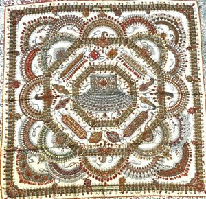 Gorgeous-Hermes-100-silk-Scarf-034-parures-des-Maharajas-034-90cm-Pink-2021