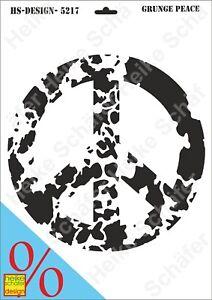 Schablone-Stencil-A3-126-5217-Grunge-Peace-Neu-Heike-Schaefer-Design