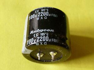 Condensateur 25x50mm 2200uF 100 V 105 C radial électrolytique Snap in