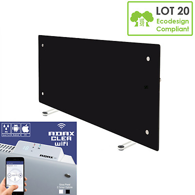 Eezi-Heat 420SS-S 420W Wall Panel Heater Integrated 7 Day Timer WIFI Convector