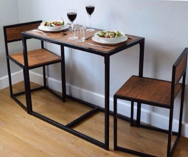 Compact Dining Table And Chairs: 2 Seater Dining Table And Chairs Breakfast Kitchen Room