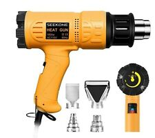 1800W Heavy Duty Hot Air Heat Gun with 2-Temperature Settings 4 Nozzles Kit Set//