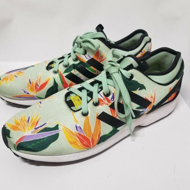 reputable site 731d4 89ed6 Adidas Zx Flux Nps Men's Shoes Size 12 Hawaiian Floral B34468 EUC