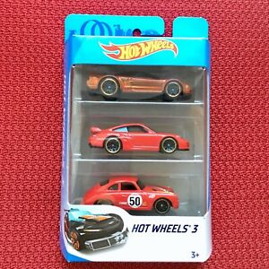 HOT-WHEELS-3-Pack-Acura-PORSCHE-911-GT2-PORSCHE-356A-Outlaw-auto-giocattolo-Nuovo-di-Zecca