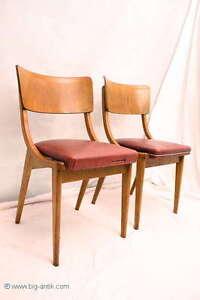 2 wundersch ne 50er bauhaus st hle holzst hle. Black Bedroom Furniture Sets. Home Design Ideas