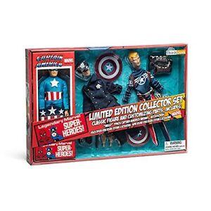 Sur Diamond America Action Jouets Le Limited Edit Marvel Titre Figure Set D'origine Afficher Select Rétro Détails Captain rdxCshtQ