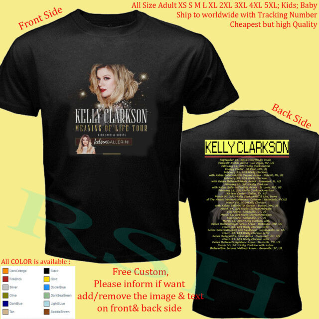 KELLY CLARKSON TOUR 2019 Concert Album T-Shirt Adult S-5XL Youth Infants