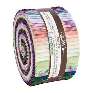 Kaufman-Batik-Fabric-Strips-Jelly-Roll-Rollup-ROSETTE-RU-850-40