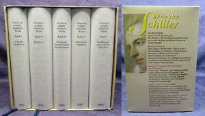 Friedrich Schiller Sämtliche Werke 5 Bde im Schuber mit Or. SU 1987 Klassiker js