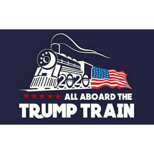 5Pcs Donald Trump 2020 All Aboard the Trump Train Exterior Bumper Sticker ~vv
