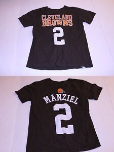 560960a9 Details about Youth Cleveland Browns Johnny Manziel S (8) Jersey T-Shirt  Tee (Brown) NFL Jerse