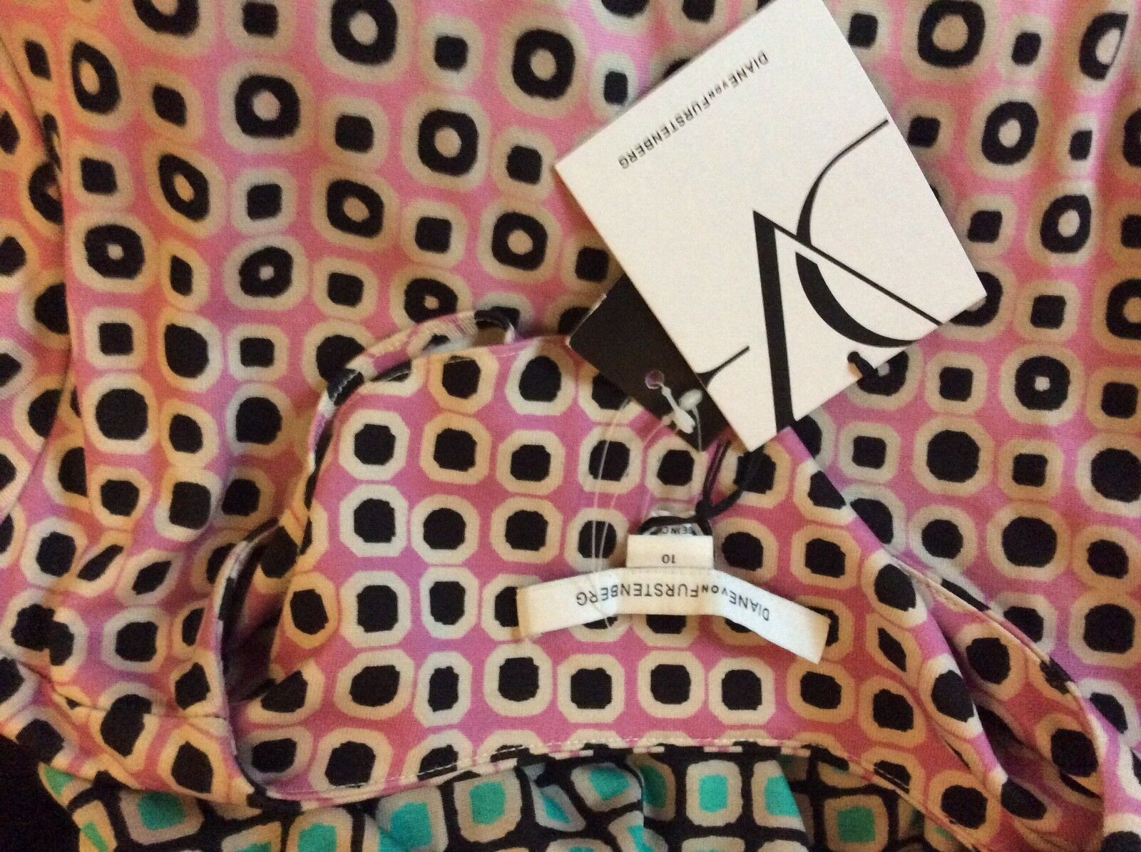 DIANE VON FURSTENBERG FURSTENBERG FURSTENBERG Zoe Fouldade Ombre Silk Dress US10 UK14 SALE REDUCED 4a73ad