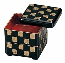 HAKOYA Lunch Bento Box 05562 Mini Nest of Boxes Black Checkered MADE IN JAPAN